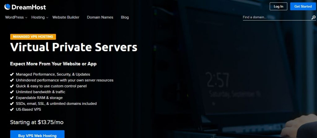 Dreamhost VPS-hosting