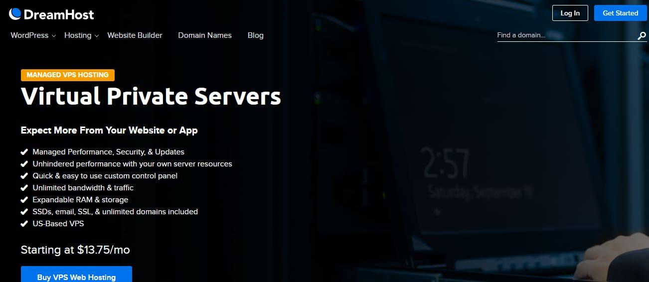 Dreamhostの最高のvpsのLinuxは