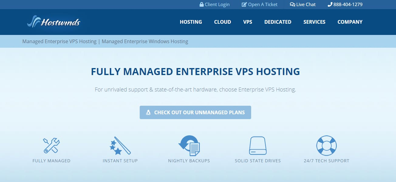 Hostwinds top vps hosting