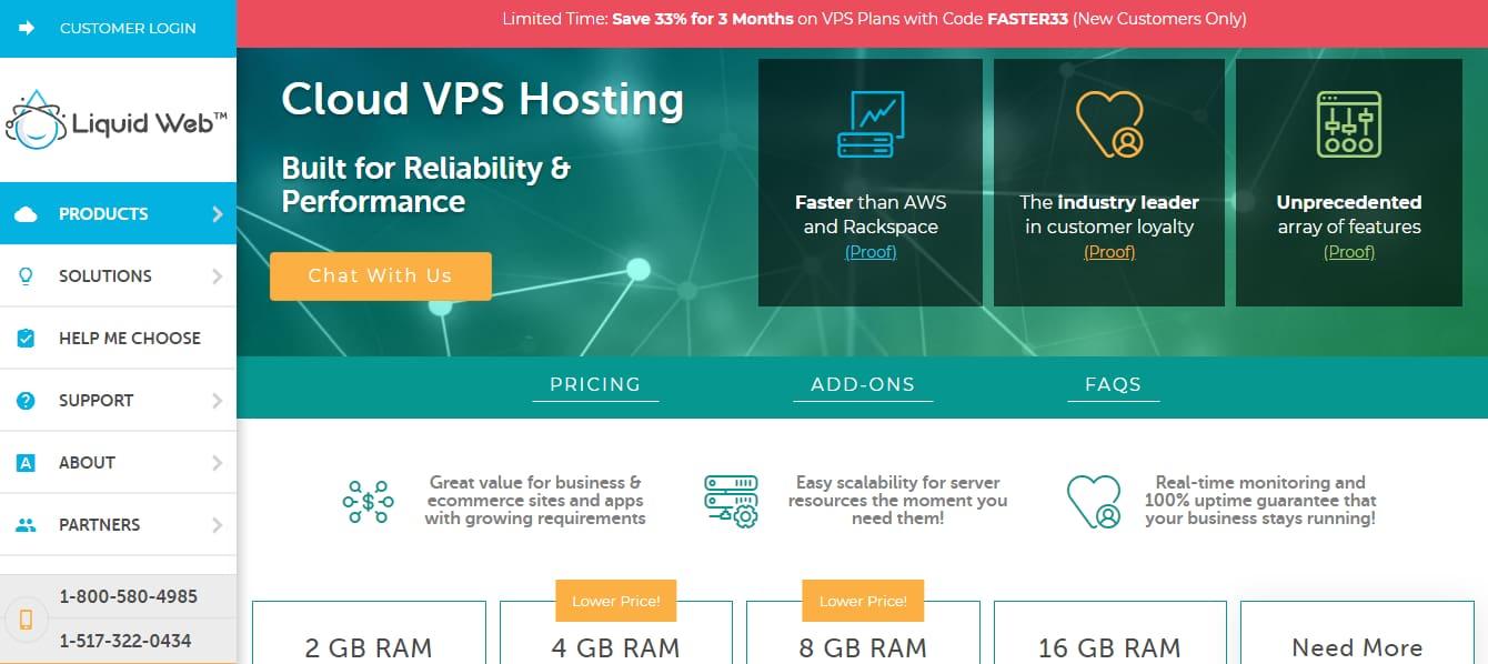 Liquidweb ha gestito il cloud vps