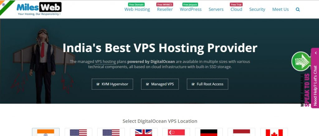 Milesweb Cheap VPS India