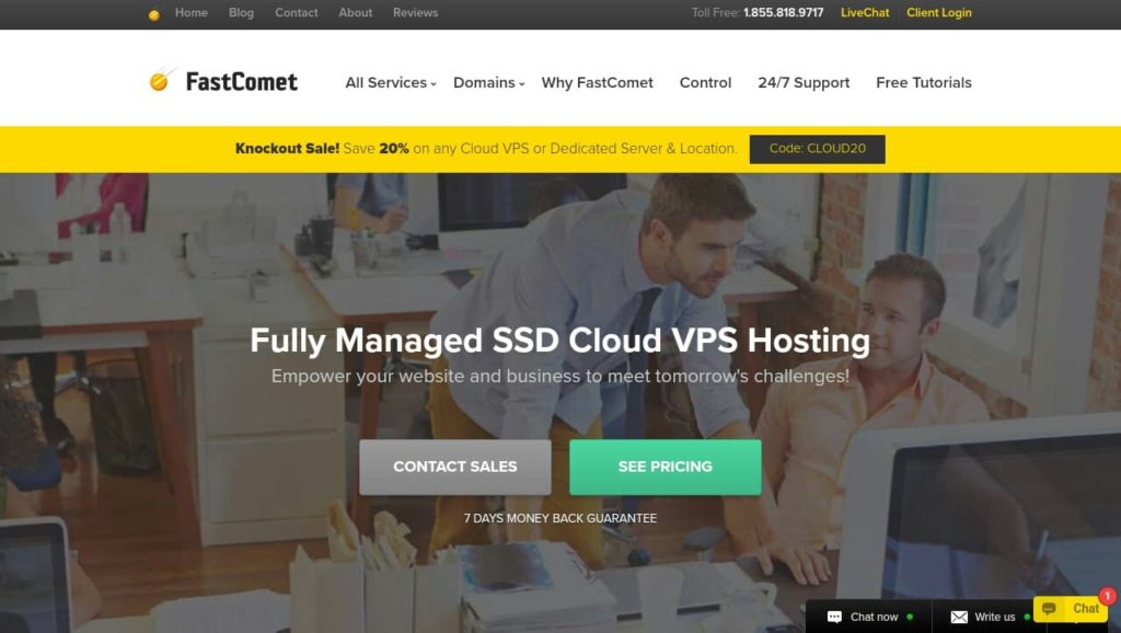 FastComet Fully Managed Cloud-Based Linux VPS