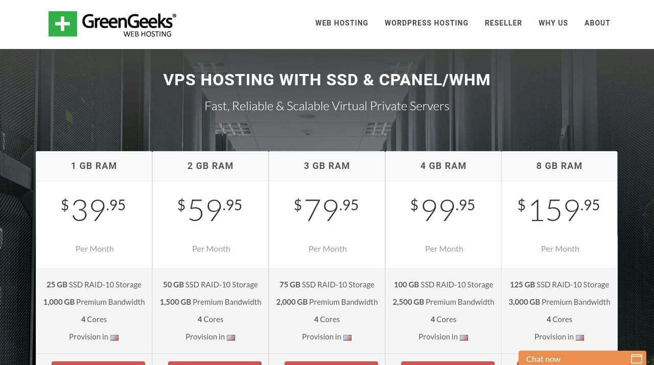 GreenGeeks Best VPS Server