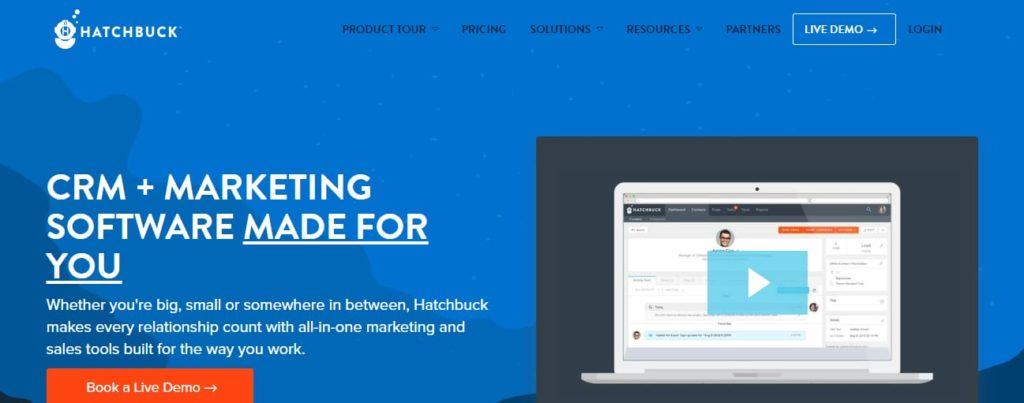 Hatchbuck software di marketing
