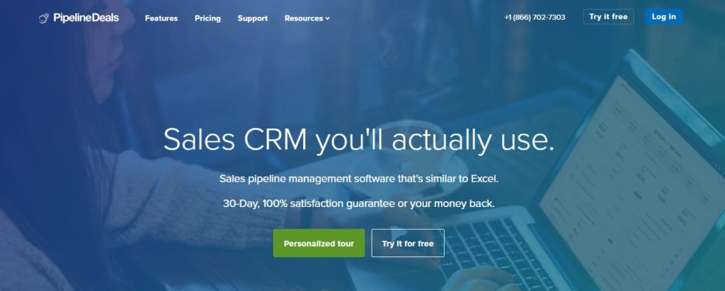 Pipelinedeals software CRM