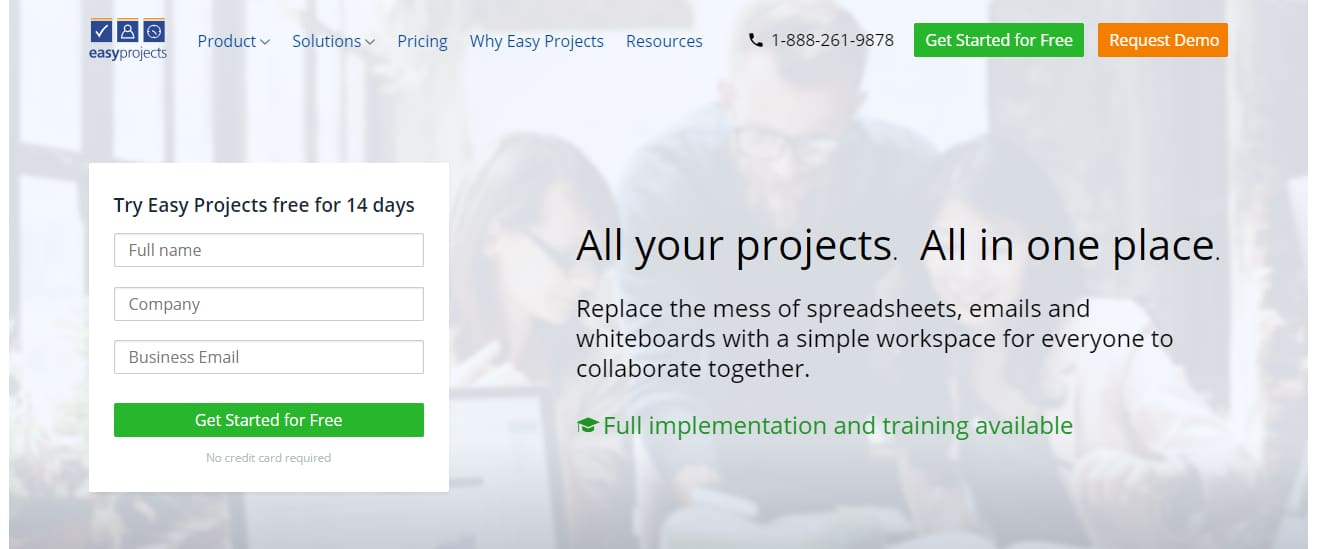 Easyprojects project software