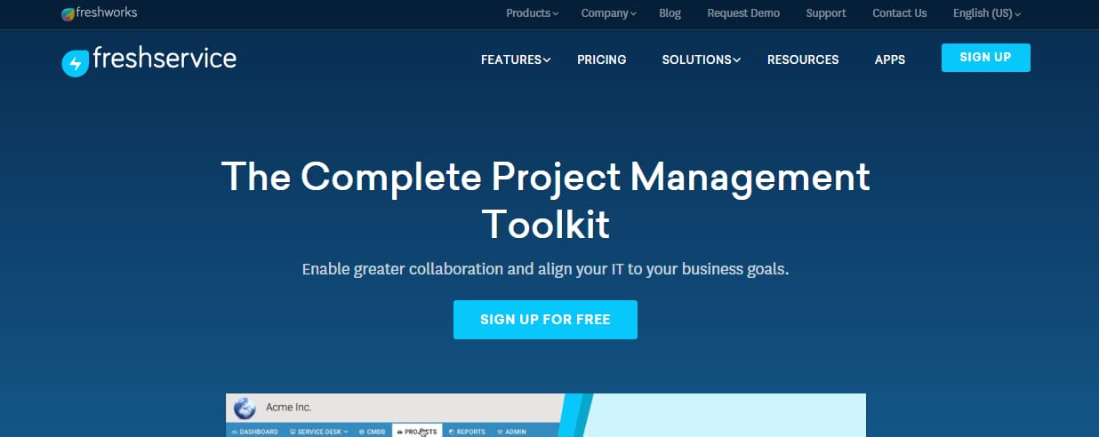 FreshService IT project management toolkit