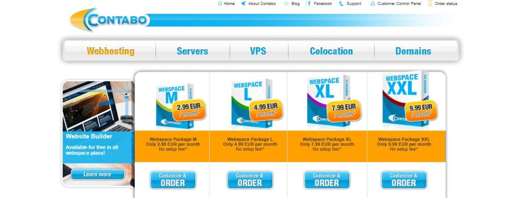 Contabo Best Web Hosting Europa