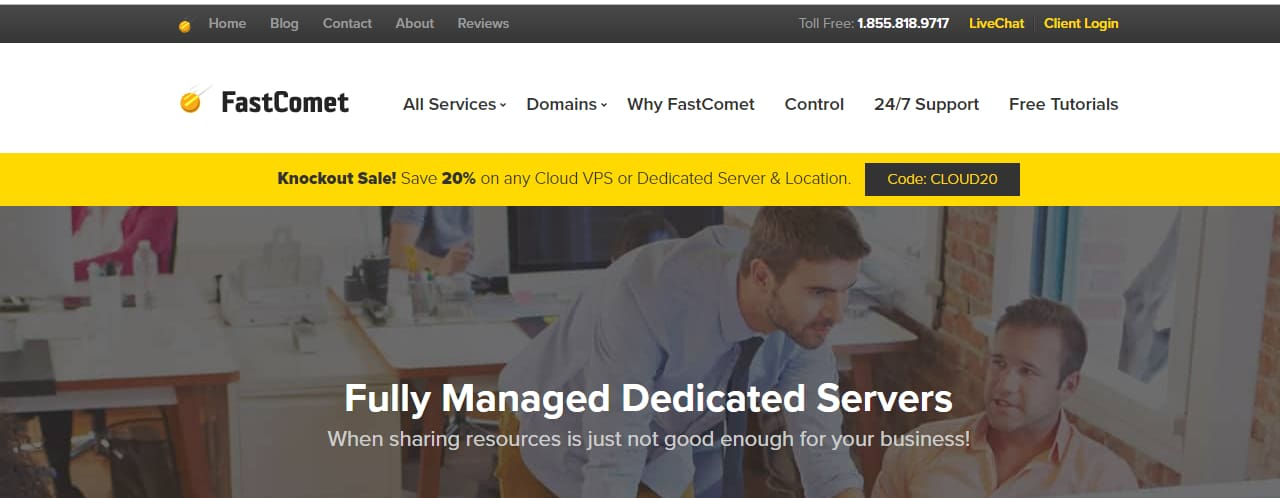 FastComet Managed Dedicated Server