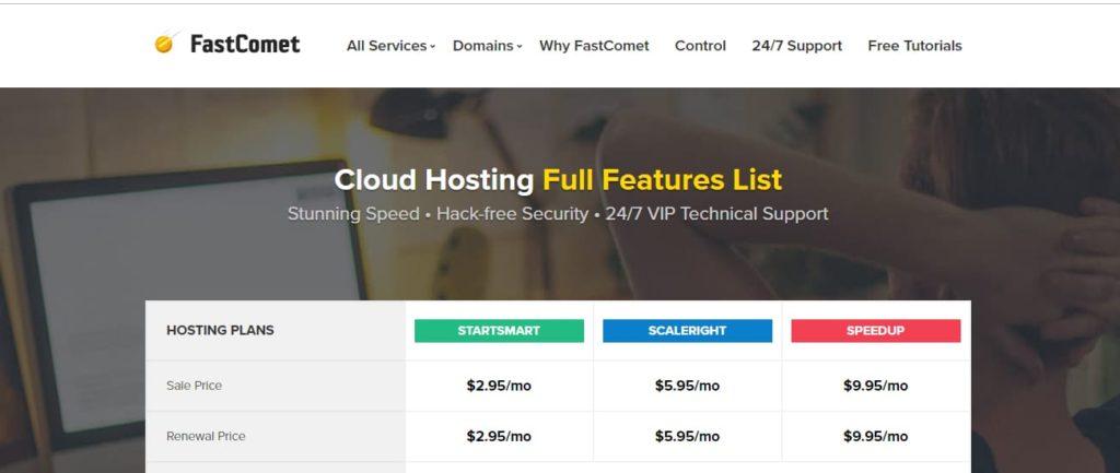 FastComet Cloud-Hosting