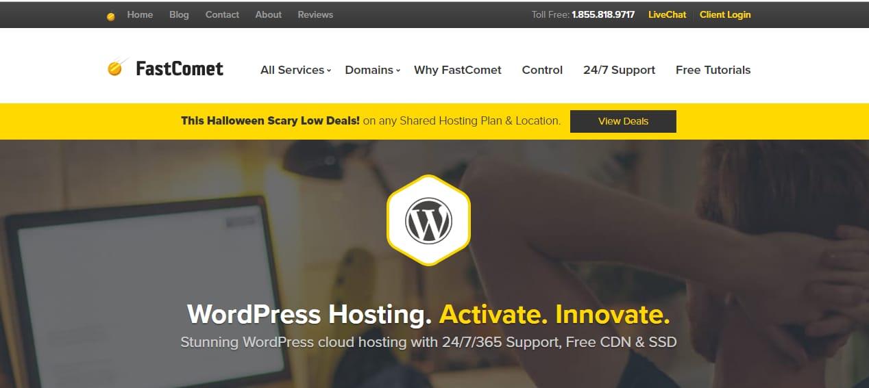 Fastcomet cheapest wordpress hosting