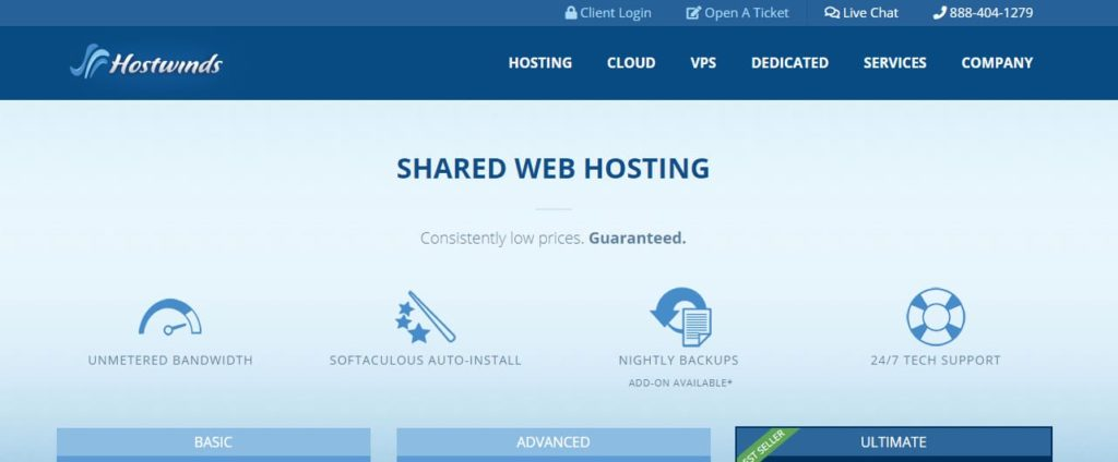 Hostwinds, Website Hosting Termurah USA