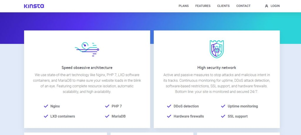 Kinsta - managed wordpress hosting