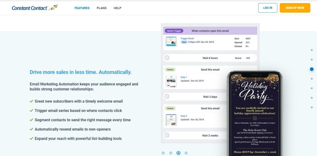 Constant Contact email software