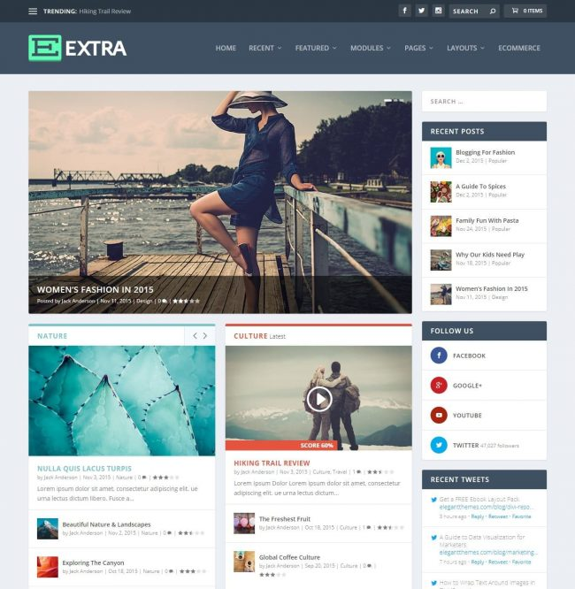 Tema Extra WordPress