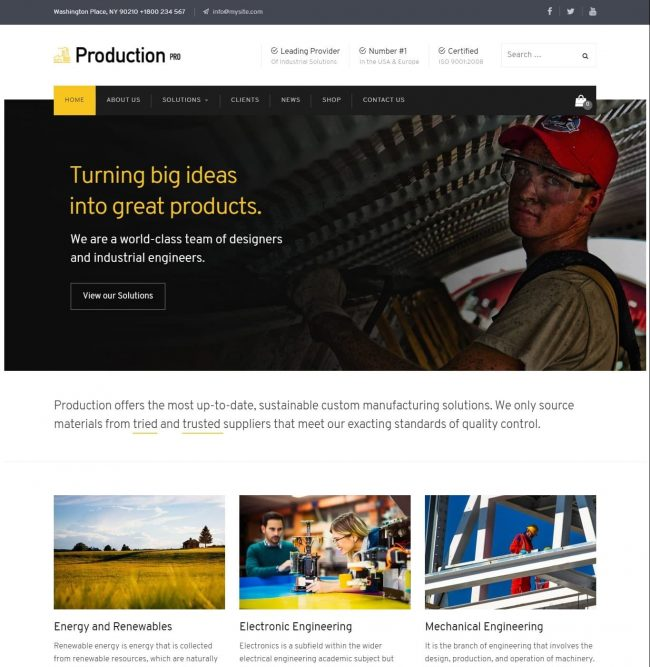 Production Pro WordPress tema