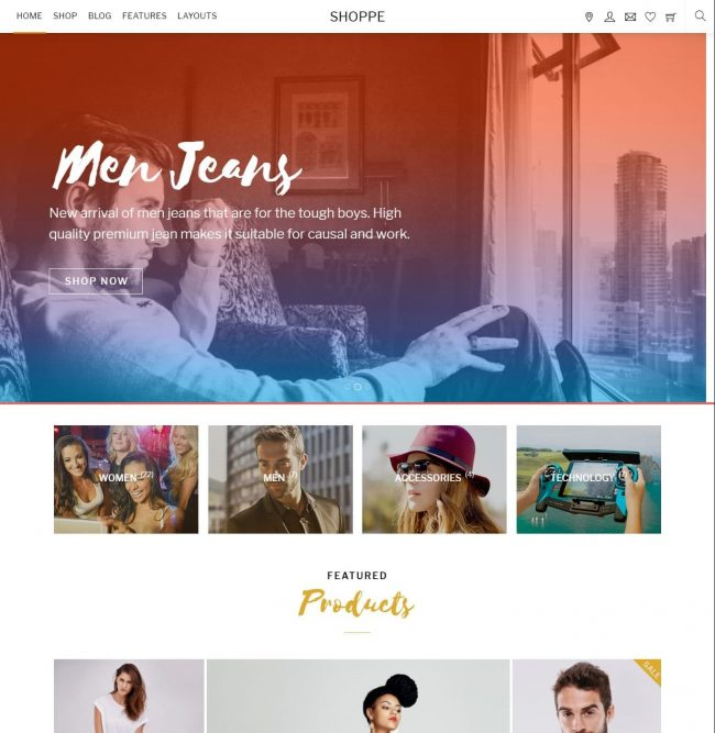 Tema WordPress Shoppe