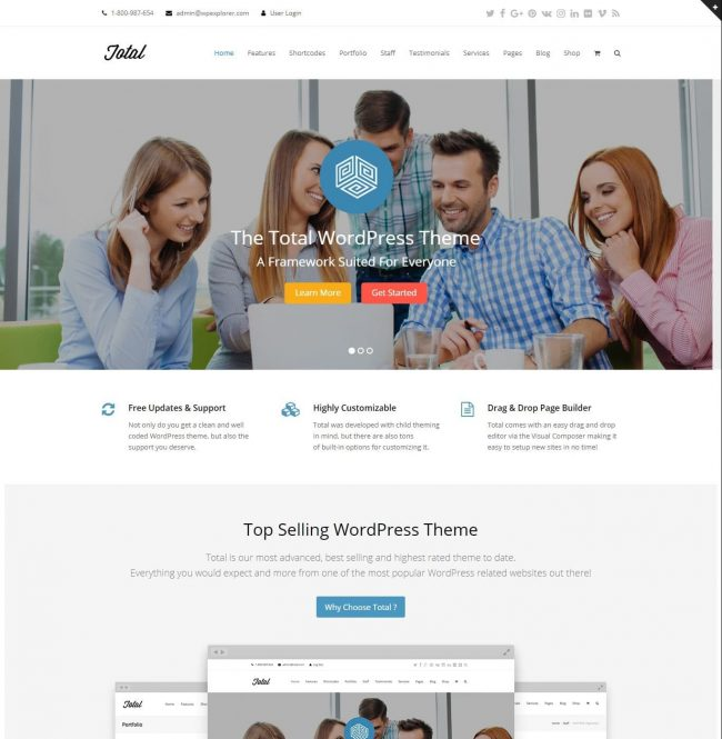 Total WordPress tema