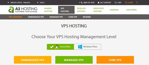 A2hosting Powerful VPS